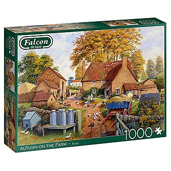 Falcon De Luxe Puzzle - Herbst auf der Farm, 1000 Stück