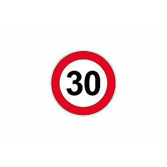 Stick sticker signaling plate door speed limit panel 30