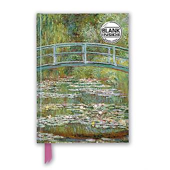 Claude Monet Bridge over a Pond for Water Lilies Foiled Blank Journal by Created by Flame Tree Studio