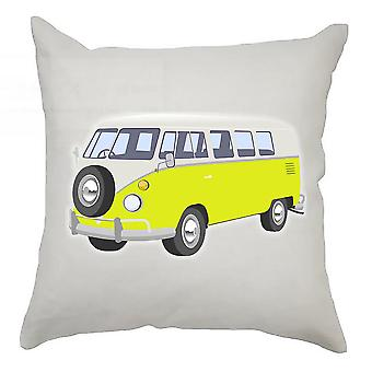 Campervan Cushion Cover 40cm x 40cm Yellow