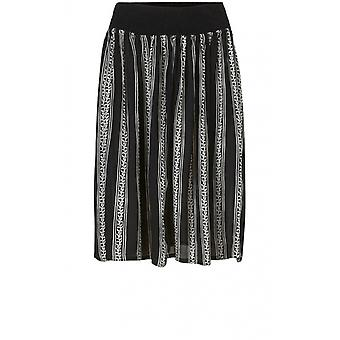 Masai Clothing Sanne Black & White Striped Skirt