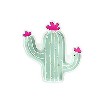 Cactus Shaped Paper Party Plates x 6 - Partyware