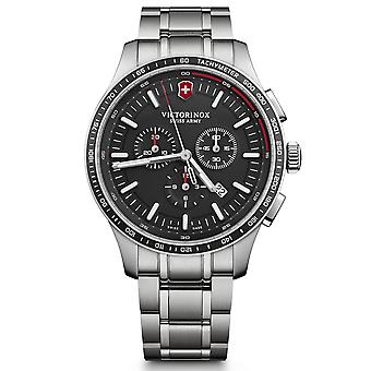 Victorinox Swiss Army Alliance Sport Chronograph Black Dial Silver Stainless Steel Bracelet Men's Watch 241816 RRP £429
