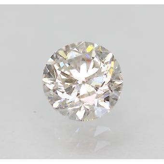 Certified 0.70 Carat E SI1 Round Brilliant Enhanced Natural Loose Diamond 5.46mm