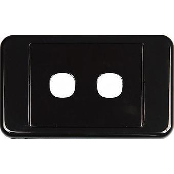 2 Manier Australische Stijl Wall Plate Zwart
