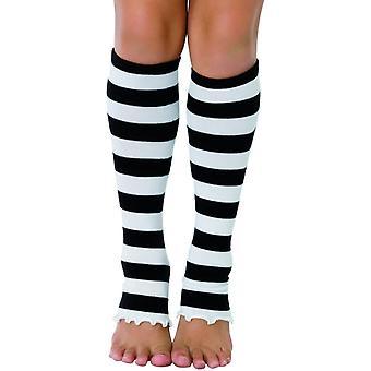Leg Warmers Striped Wt/Bk