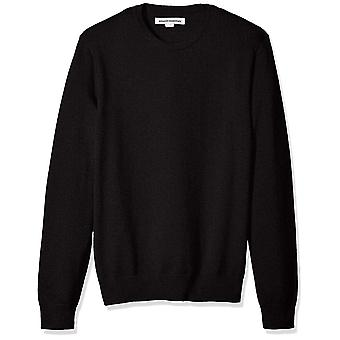 Essentials Men's Crewneck Pullover, schwarz, X-Klein