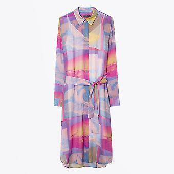 PS Paul Smith  - Chiffon Printed Dress - Pink/Multi