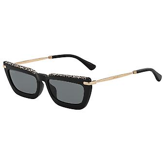 Jimmy Choo Vela/G/S FP3/IR Black-Gold Leopard/Grey Sunglasses