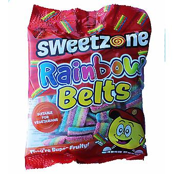 SweetZone Rainbow Belts HMC Halal Sweets, 90g Bag