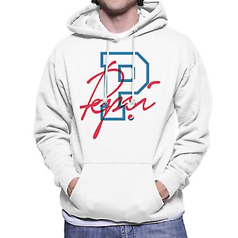Pepsi Retro College Sports Men's Hooded Sweatshirt