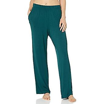 Essentials Women's Knit Sleep Pant, Deep Pine, Large
