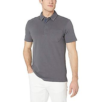 Goodthreads Men's Short-Sleeve Sueded Jersey Polo, Dark Grey, XXX-Large Tall