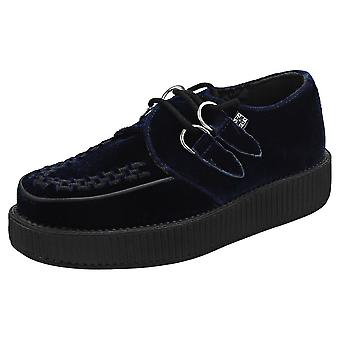 T.U.K Viva Low Creeper Womens Creeper Shoes in Blue