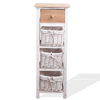 Mobile Bad Licht weiß Holz 1 Tablett 3ceste Zimmer Bad 85x31x27