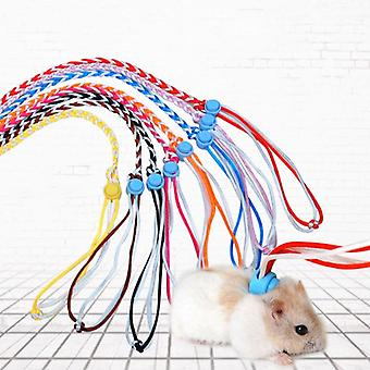 Adjustable Pet Hamster Leash Harness Rope Gerbil Cotton Rope Harness Lead