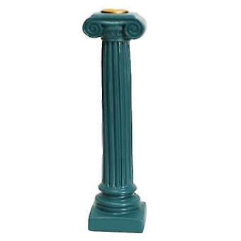 Resin Roman Column Candlestick Candle Holder Green