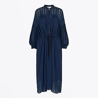 Munthe  - Lannel - Maxi Drawstring Dress - Blue