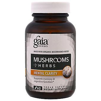 Gaia Herbs, Mushroom + Herbs, Mental Clarity, 60 Vegan Capsules