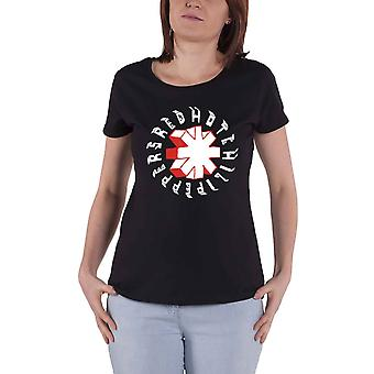 Red Hot Chili Peppers T Shirt Hand Drawn Logo Official Womens Skinny Fit Black