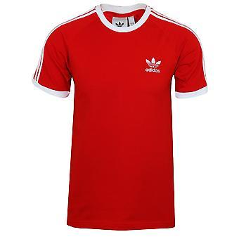 Adidas men's scarlet 3 stripes t-shirt