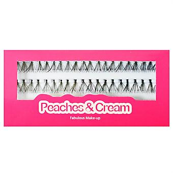 Peaches and Cream Individual False Lashes - 12mm Medium Length - Natural Look