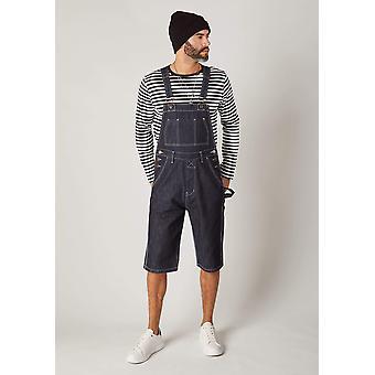 Blake mens dungaree shorts-Indigo
