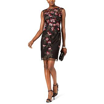 Adrianna Papell | Floral Embroidered Sleeveless Mini Dress