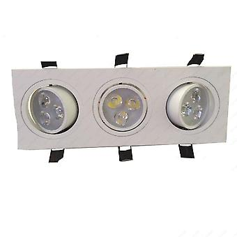 Led Ceiling Light, Rectangle Triple Head Lamp