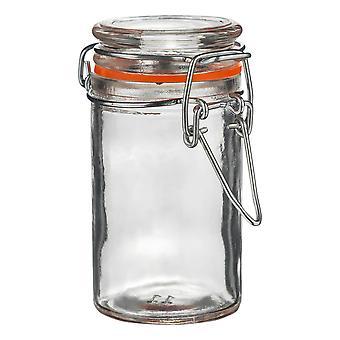 Argon Geschirr Glas Gewürz glas mit luftdichten Clip Lid - 70ml - Orange Seal