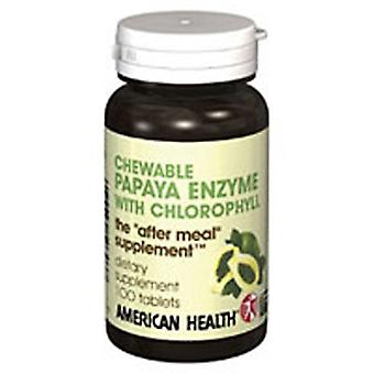 American Health Papaya Enzyme With Chlorophyll, 600 Chewable Tablets