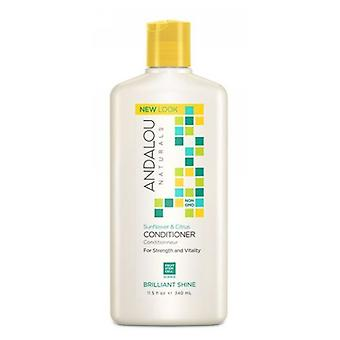 Andalou Naturals Brilliant Shine Conditioner, Sunflower and Citrus 11.5 oz