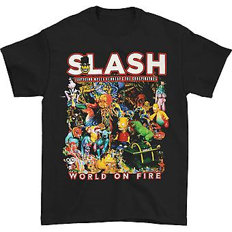 Slash World On Fire T-shirt