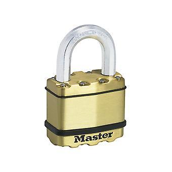 Master Lock Excell Brass Finish 50mm Padlock 4-Pin MLKM5B