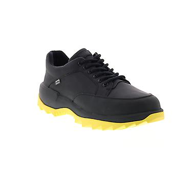 Camper Helix  Mens Black Leather Lace Up Euro Sneakers Shoes