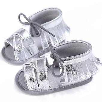 Fashion Newborn Baby Sandals, Cute Princess Tassel Infant Flat Lovey Lace Up