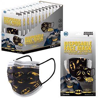 Batman Symbol alle über 10-Pack Von Einweg Jugend Gesichtsmasken