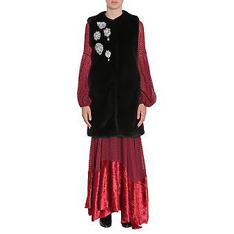 Ainea F7f14b1 Women's Black Acrylic Vest
