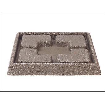 Stewart Decorative Saucer Square Dark Brown 25cm 5134047