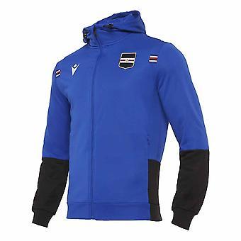 2020-2021 Sampdoria Full Zip Hooded Top (Blue)