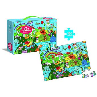 Homemiyn 180 Pieces Of Children's Educational Jigsaw Puzzle Animals And Plants