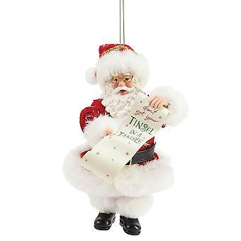 Department 56 Tinsel In A Tangle Santa Ornament