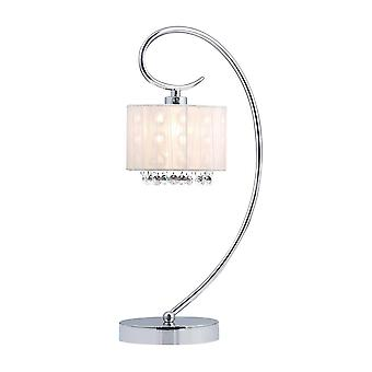 Italux Span - Bordlampe Chrome 1 Lys med Crystal Shade, E14