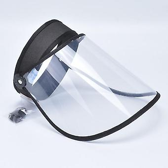 Transparent Adjustable Visor Cap, Plastic Anti-spitting Dust Proof Safety Face