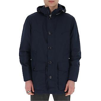 Woolrich Woou0190mrut20533989re1 Men's Blue Nylon Outerwear Jacket