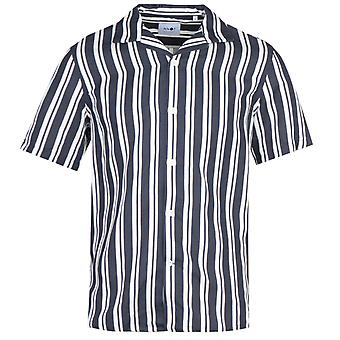 NN07 5036 Miyagi Short Sleeve Dark Navy Striped Shirt