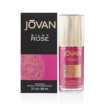 Jovan rosa sedosa por coty para mujeres 3.0 oz spray de colonia