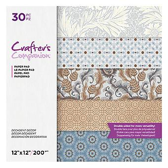 Crafter's Companion Decadent Decor 12x12 Inch Paper Pad