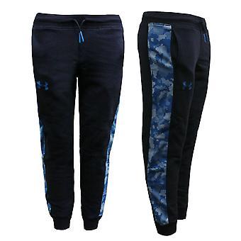 Under Armour Threadborne Printed Boys Joggers Track Pants Navy 1304128 410 R15K