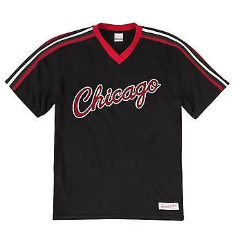 Mitchell & Ness Chicago Bulls Overtime Win V Neck Camiseta Tee VNECAJ18003 CBU